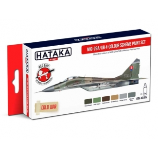 "MiG-29A/UB ""Fulcrum-A/B"" 4-colour scheme paint set (6 x 17 ml.)"