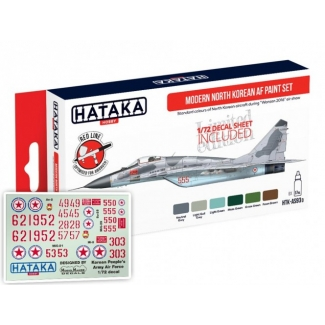 Modern North Korean AF paint set – Limited Edition with 1/72 Decals (6 x 17 ml.)