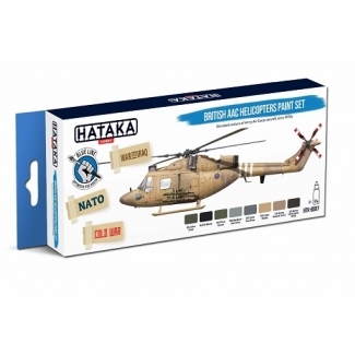 BLUE LINE – British AAC Helicopters paint set (8 x 17 ml)