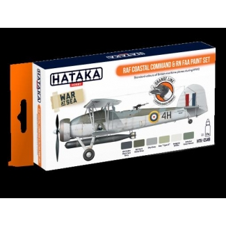 ORANGE LINE – RAF Coastal Command & RN FAA paint set (6 x 17 ml.)