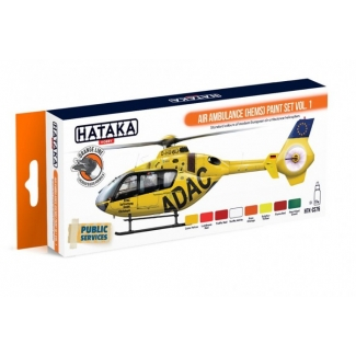 ORANGE LINE – Air Ambulance (HEMS) paint set vol. 1 (8 x 17 ml.)