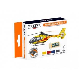 ORANGE LINE – Air Ambulance (HEMS) paint set vol. 2 (4 x 17 ml.)