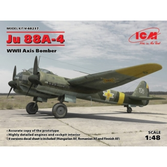 Ju 88A-4, WWII Axis Bomber (1:48)