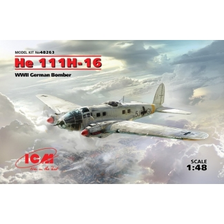 He 111H-16, WWII German Bomber (1:48)