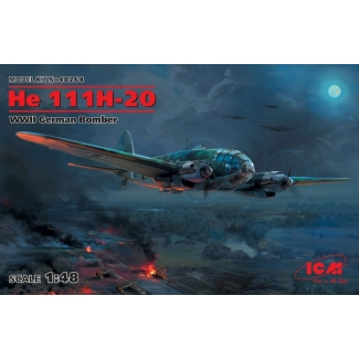He 111H-20, WWII German Bomber (1:48)