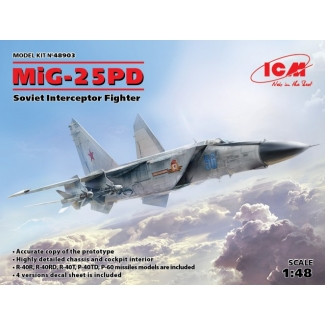 MiG-25 PD, Soviet Interceptor Fighter (1:48)