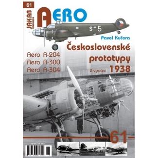 Jakab Aero Československé prototypy 1938 Aero A-204,A-300,A-304