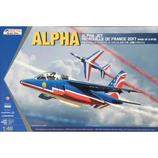 Alpha Jet Patrouille De France 2017 (Pack of 2 kits) (1:48)