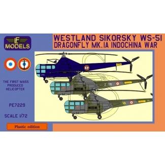 Westland Sikorsky WS-51 Dragonfly Mk.1A Indochina war (1:72)