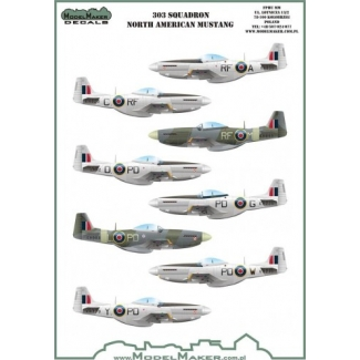 303 Squadron North Ameriacan Mustangs (1:72)