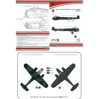 Dornier Do 17Z-2 late with MG-FF NJG 2 (R4+ZK) (1:72)