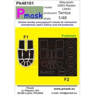 Mitsubishi J2M3 Raiden (Jack): Maska (1:48)
