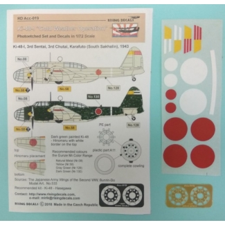 "Ki-48-I ""Cold Weather Operation"" - photoetched set + decals (3rd Sentai over Sakhalin) (1:72)"
