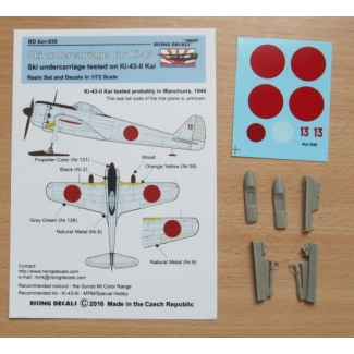 Ski undercarriage for Ki-43-II Kai + decals (1:72)