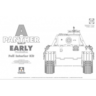 WWII German medium Tank  Sd.Kfz.171 Panther A early production w/ full interior kit (1:35)
