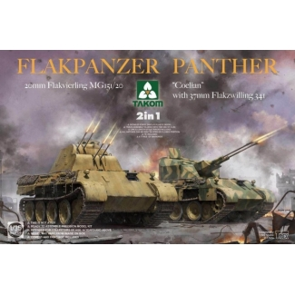 "Flakpanzer Panther ""Coelian"" 20mm Flakvierling MG151/20 with 37mm Flakzwilling 341 (2 in 1) (1:35)"