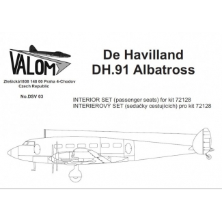 Interior set for 72128 DH.91 Albatross: Waloryzacja (1:72)