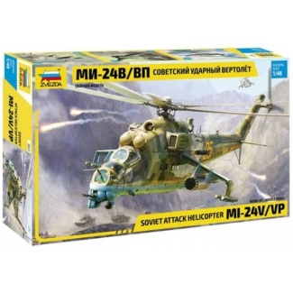 Zvezda 4823 Soviet Attack Helicopter Mi-24V/VP (1:48)