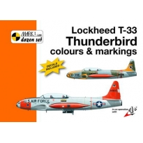 Lockheed T-33 Thunderbird Colour and markings and decals (1:32)
