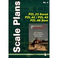 Scale Plans No. 4 PZL.23 Karaś PZL.42/43 PZL.46 Sum (1:72 1:48)