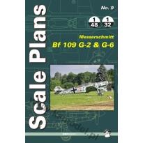 Scale Plans No. 9 Messerschmitt Bf109G-2 & G-6