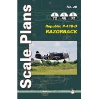 Scale Plans No.20 Republic P-47B-D Razorback (1:72,1:48,1:32)