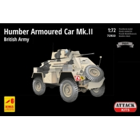 Humber Armoured Car Mk.II – British Army Africa (PE& resin det., metal gun bar.) (1:72)