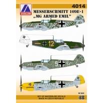"""Messerschmitt 109E-1 """"MG Armed Emil"""" (1:48)"""