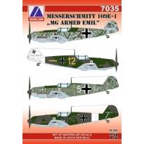 """Messerschmitt 109E-1 """"MG Armed Emil"""" (1:72)"""