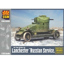"""Lanchester Armoured Car """"Russian Service"""" with 37 mm Hotchkiss (1:35)"""