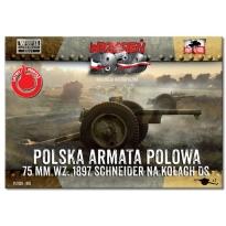 First to Fight Polska armata polowa 75mm wz.1897 Schneider na kołach DS (1:72)