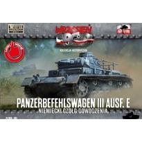 First to Fight  Panzerbefehlswagen III Ausf.E Niemiecki czołg dowodzenia (1:72)