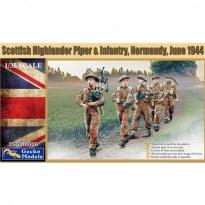 Scottish Highlander Piper & Infantry, Normandy,June 1944 (1:35)
