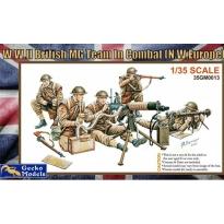 WWII British MG Team in Combat (1:35)