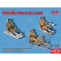WWII Allies Pilots in the cockpit (British, American, Soviet) (1:32)