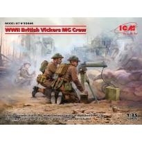 WWII British Vickers MG Crew (Vickers MG & 2 figures) (1:35)