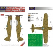 Macchi C.200 Saetta Tropical snakelike pattern Camouflage PM (1:72)