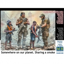 """""""Somewhere on our planet. Sharing a smoke"""" (1:35)"""
