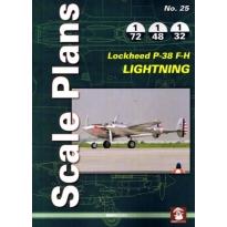 Scale Plans No.25 Lockheed P-38 F-H Lightning (1:72,1:48,1:32)