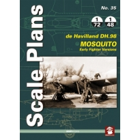 Scale Plans No.35 de havilland DH.98 Mosquito Early Fighter Versions (1:72,1:48)