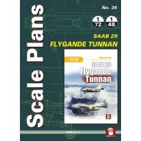 Scale Plans No.35 SAAB 29 Flygande Tunnan (1:72,1:48)