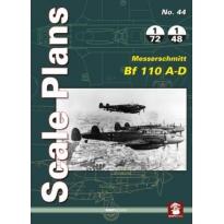 Scale Plans No.44 Messerschmitt Bf 110 A-D (1:72,1:48)
