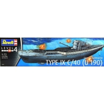 German Submarine Type IX C/40 (1:72)