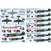 The Burma Banshees - P-40N-1 and N-5 of the 80th FG over Assam, India (decals for 7 a/c) (poprawiona reedycja) (1:72)