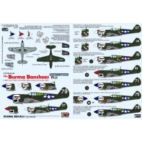 The Burma Banshees II. - P-40N-1 and N-5 of the 80th FG over Assam, India (decals for 7 a/c) (poprawiona reedycja) (1:72)