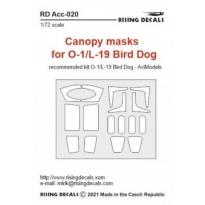 Canopy masks for O-1/L-19 Bird Dog (1:72)