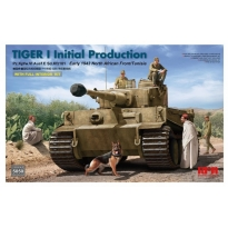 Tiger I Initial Production Pz.Kpfw.VI Ausf.E Sd.Kfz181 Early 1943 North African Fronnt/Tunisia with full interior kit (1:35)