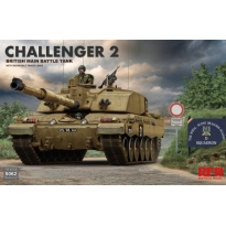 Challenger 2 British Main Battle Tank with workable track links (1:35)