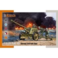 7,5cm PaK 40 German Anti-Tank Gun (1:72)