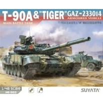 "T-90A Main Battle Tank & ""Tiger"" GAZ-233014 Armoured Vehicle (1:48)"